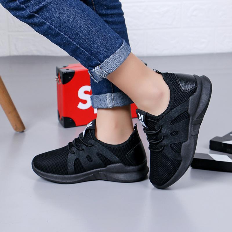 Los niños de ventilación zapatillas catamita ocasional de la muchacha de Usar-resistencia zapato del estudiante del niño de flor Deporte Mujer Niño Niños