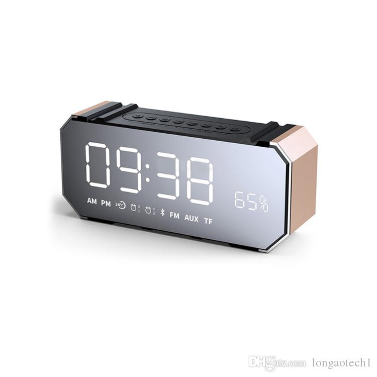new top sell Mini 10W Bluetooth Wireless Speaker with LED Clock, Lightweight, Big Sound, Bass and Large Dimmable Display
