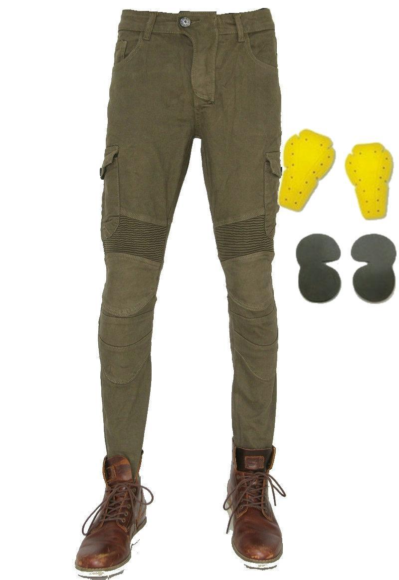 Volero motorpool moto pantalones vaqueros del ejército de ocio hombre todo terreno pantalones verdes ciclo al aire libre del verde caqui con los pantalones de equipos protect