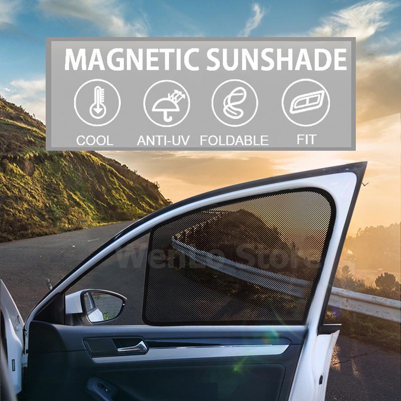 Pour A4L Sedan 2016-2020 fenêtre de voiture pare-soleil Mesh ombre aveugle UV Ray Block Mesh Auto Protection contre le soleil