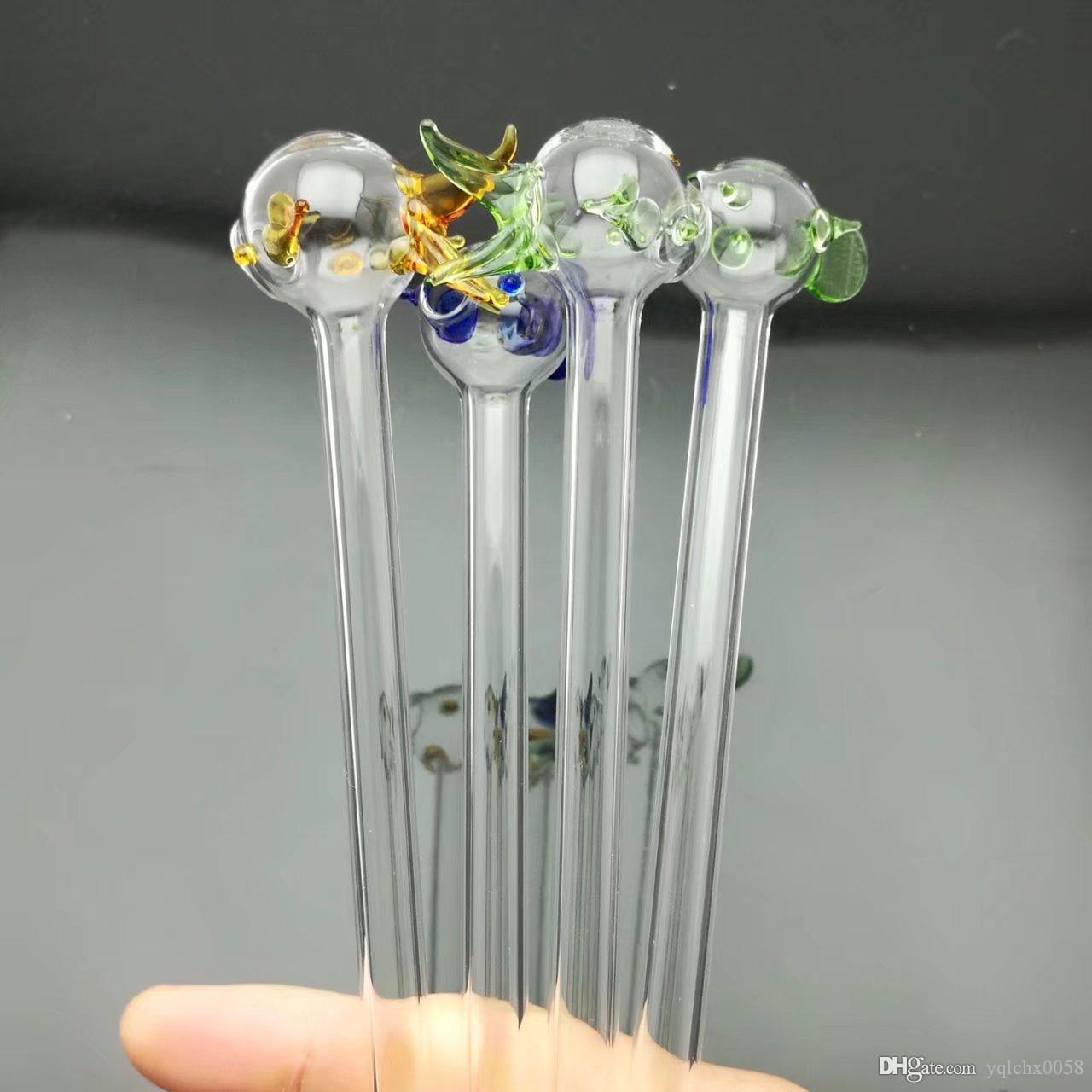 petit meunier de poissons colorés bongs gros brûleur à huile en verre Pipes d'eau Pipe en verre huile fumante Rigs, Livraison gratuite