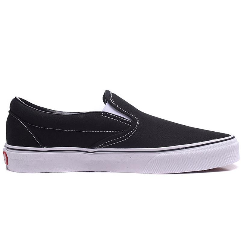 2020 noir et chaussures en toile classique blanc slip de chaussures hommes sur les amateurs de chaussures femme chaussures sport en plein air paresseux embarquement