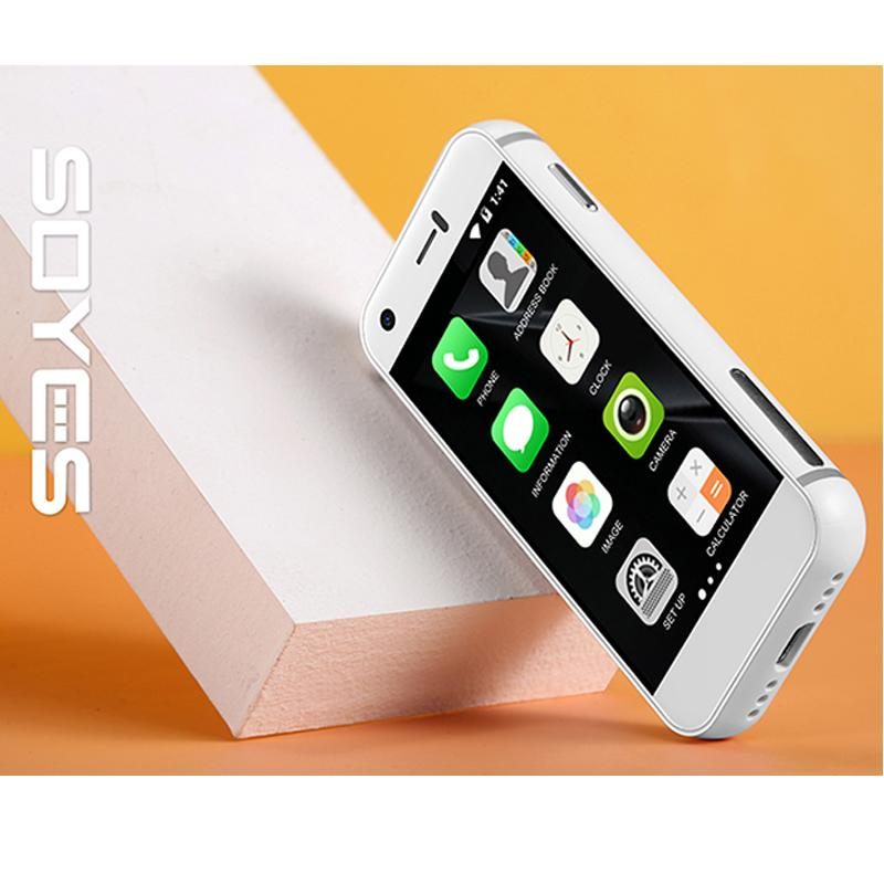 New Soyes-7S mini smart phone 5.0MP HD Camera Dual-SIM WIFI BT QuadCore Google play cellphones Small 3G Touch cellular phone for student