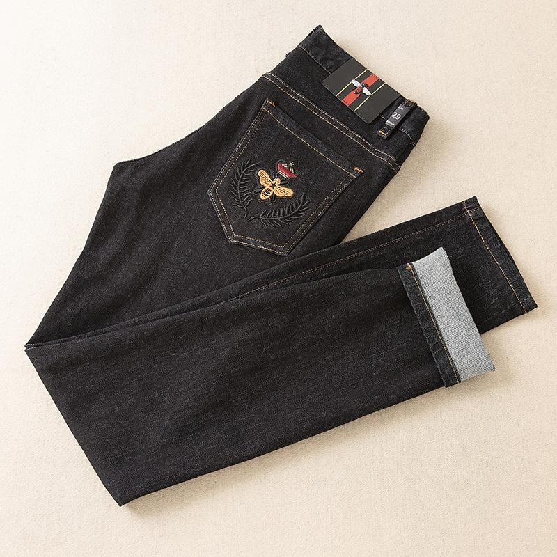 Wear desgaste dos homens dos homens desgaste dos homens de Moda de Nova E Original Designe Jeans requintados Calças retas Fed220