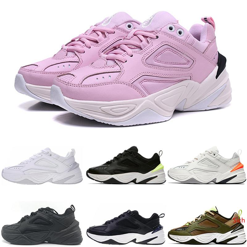 M2K Tekno Formateurs Fashion Designer Old Dad Chaussures promotion rose chaud mousse Zapatillas noir Qualité nouvelle Hommes Femmes Classique Chaussures Taille 36-44