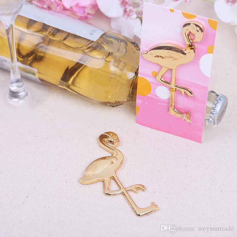 Strand Gold Metall Flamingo Bier Flaschenöffner Fanny Form einzigartige Bier Flaschenöffner Jubiläum Hochzeitsbevorzugung