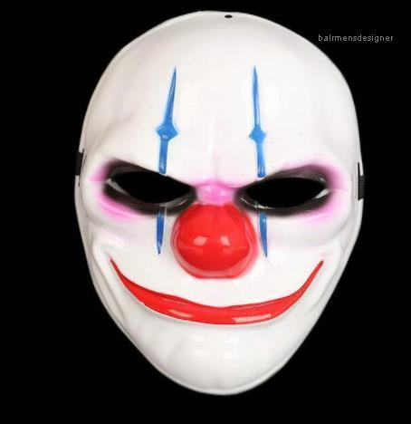 Mask Cosplay Movie Stars Party fase Clown maschera di plastica in PVC di Halloween Clown Mask Galvanotecnica Unisex