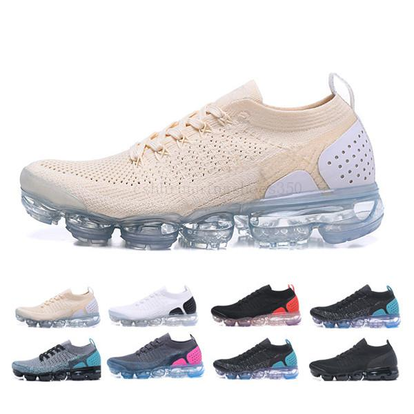 Nike Vapormax Flyknit air max 2019 Classique Off-W Fly 1.0 2.0 3.0 Chaussures Knit Flagship Gris Blanc MenWomen Triple Noir Knitting Baskets Mode Chaussures GH562