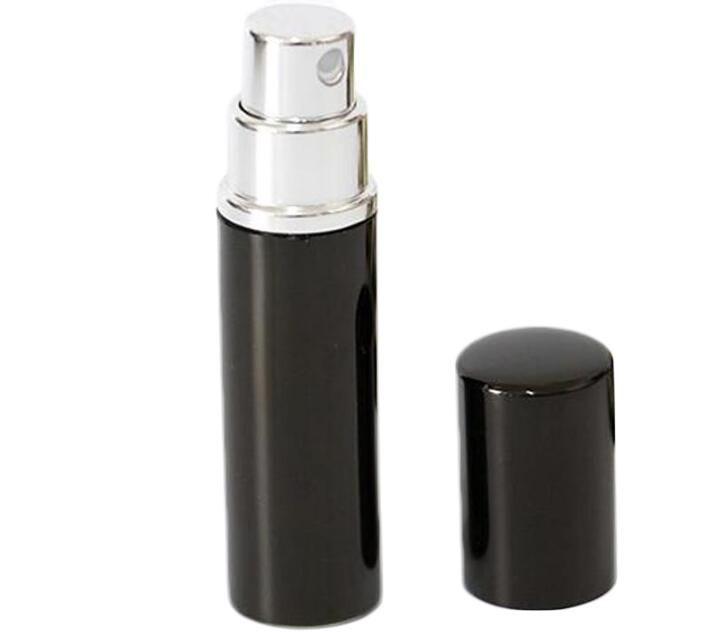 Refill bottiglia nera di colore 5ml 10ml Mini portatile profumo riutilizzabile dello spruzzo Bottiglie Bottiglie vuote Bottiglie contenitori cosmetici