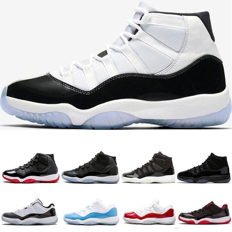 İle Kutu Yüksek Kalite Concord 45 11 XI 11'ler düşük Yüksek LE Şapkanız PRM Heiress Gym Kırmızı Space Jam Erkekler B Basketbol Ayakkabı J11 Sneakers