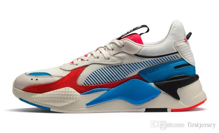 2019 Cheap Homens Mulheres RS-X Reinvenção Running Shoes Sistema Branco Preto Azul Athletic Moda Sneakers Jogging Calçados Esportivos Chausseures