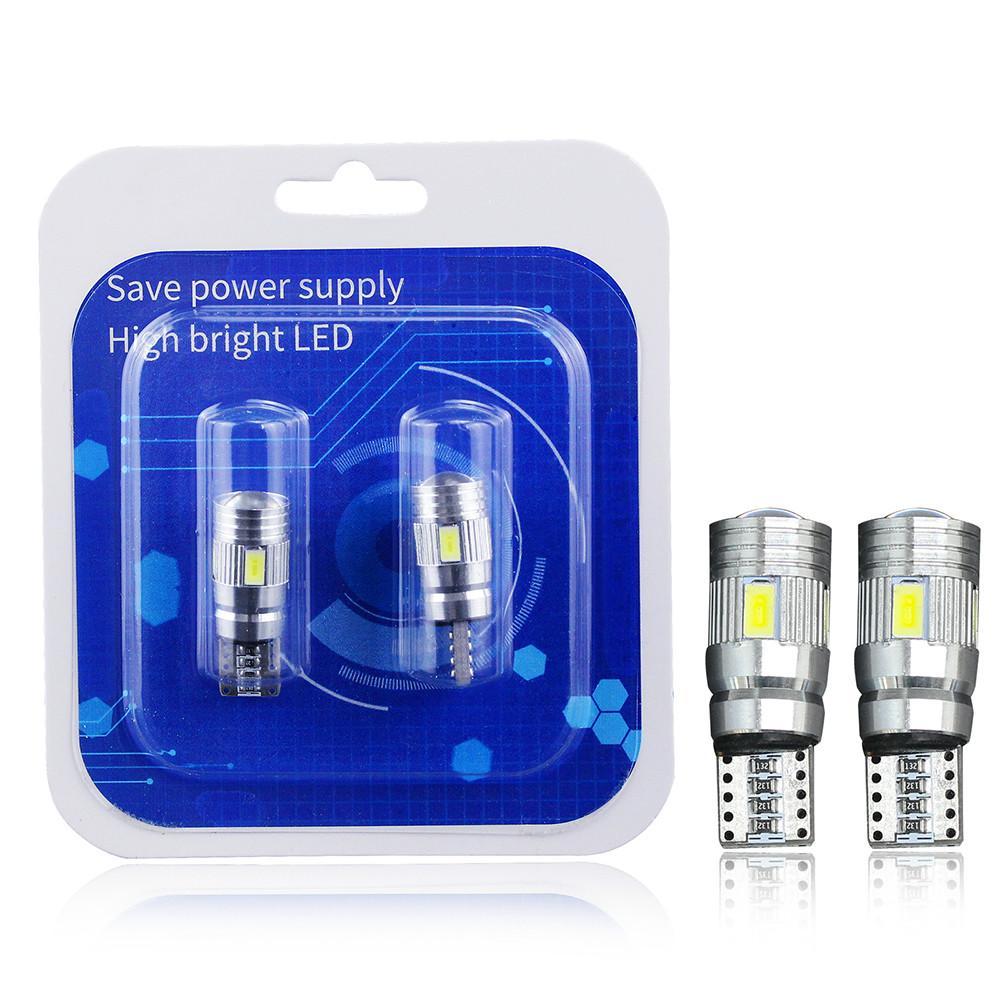 WINSUN 2X AUTO LED T10 W5W 194 168 CANBUS DC 12 V Araba İç Işık 5630 SMD Parlak Beyaz Kama Gümrükleme Lambası Lisans Işıkları Ampuller