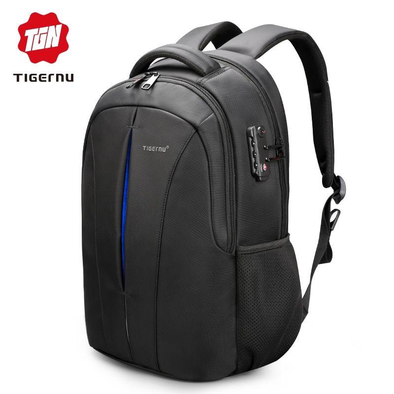 New Men Tigernu waterproof 15.6inch laptop backpack Nylon School Travel bag