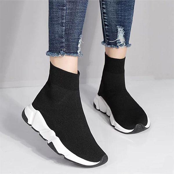 2020 Tasarımcı Sneakers Hız Eğitmen Siyah Kırmızı Gypsophila Üçlü Siyah Moda Düz Çorap Çizme Günlük Ayakkabılar Hız Eğitmen Runner 36-46