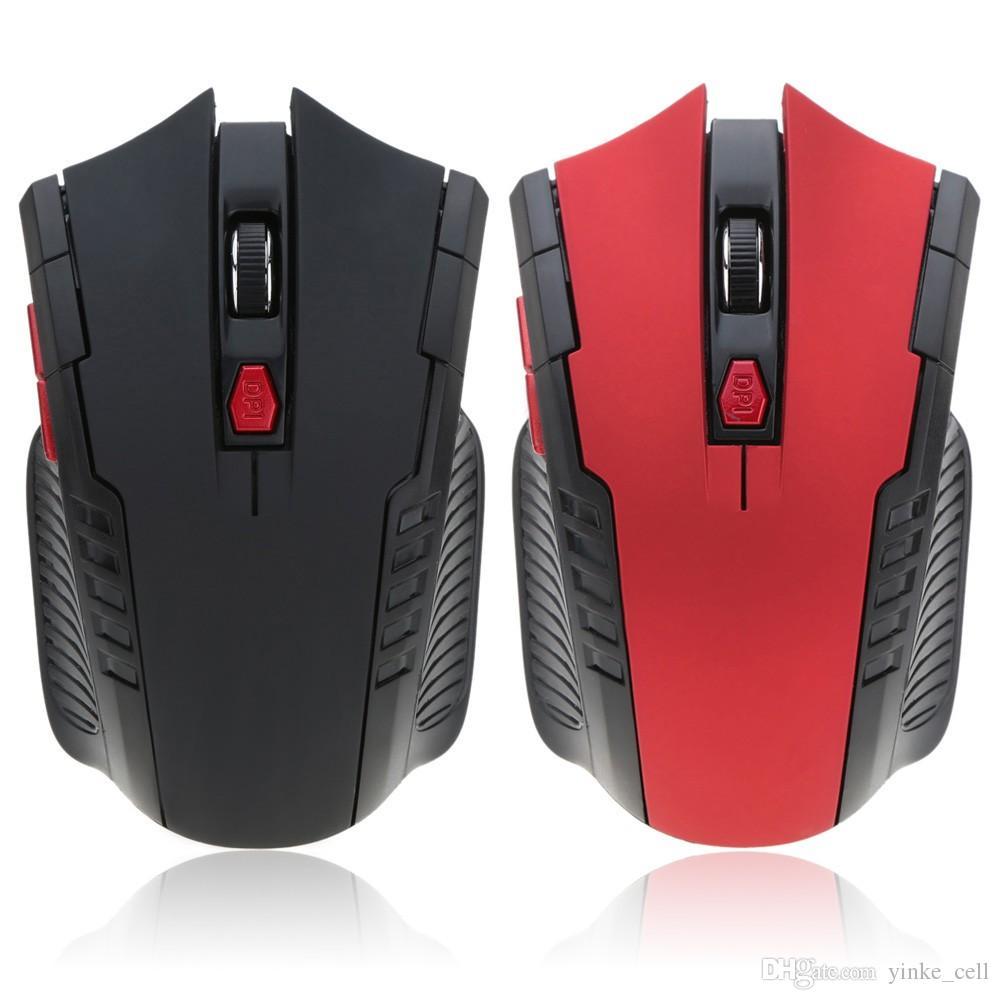 Ratón inalámbrico para juegos Gamer PC Ordenador Ratones Ordenador portátil Juego 6 Botones 2400 ppp ajustable de 2,4 GHz con receptor USB