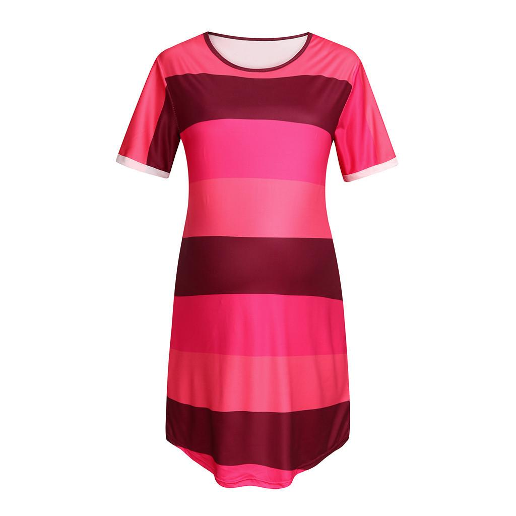Women Maternity Dresses Summer Short Sleeve Striped Elegant Casual Party Nursing Mini Dress Pregnant Clothes Vetement Femme 19my