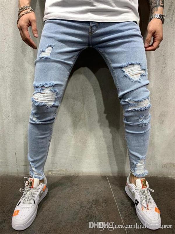 Mens Designer Jeans Trou d'été Fashion Style Homme Vêtements Nouveau Bouton Femme Vêtements Hip Hop Slim Zipper Pantalons simple