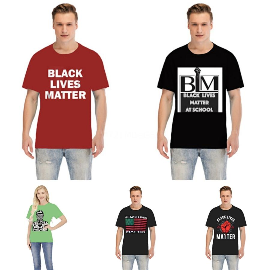 Черный Lives Matter! 02Italy Brand Дизайнерские рубашки поло мужчин Повседневный поло рубашки Strip Polos Xl # 44689