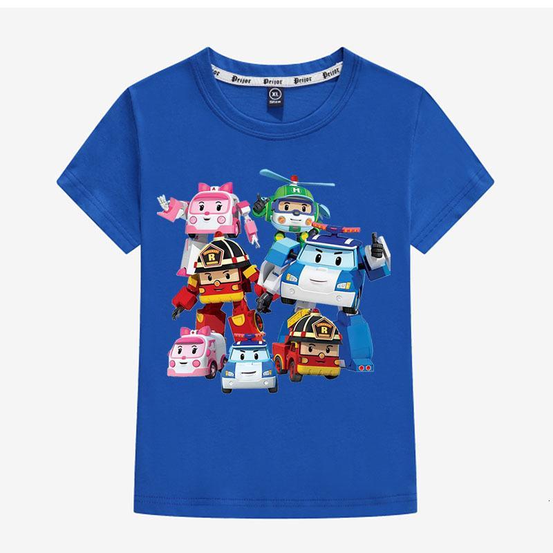 Shirt 26 Branch Combing Pure Cotton Robocar Poli Cartoon Japan And Korea Accept Paragraph Short T0378 T Shirts