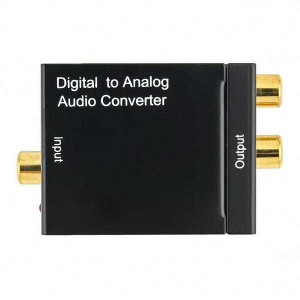 Digital Adaptador Optic Coaxial RCA Toslink sinal para analógico Audio Converter Adapter
