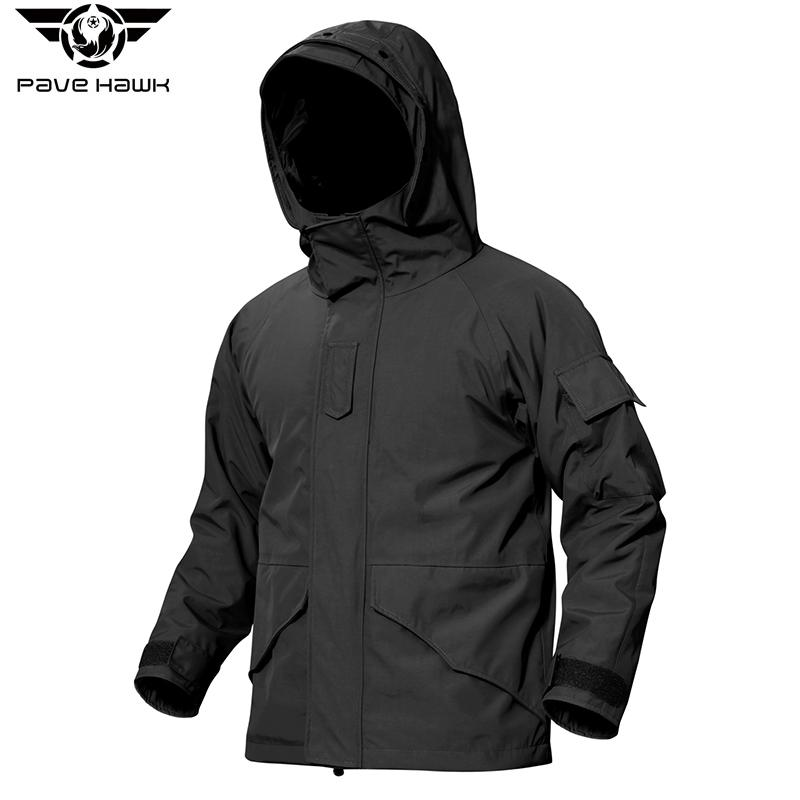 Men G8 Jackets with Hat Zipper Pockets Camouflage Coat Warm Fleece inside Tactical Trench Coat Outdoor Sports Outerwear