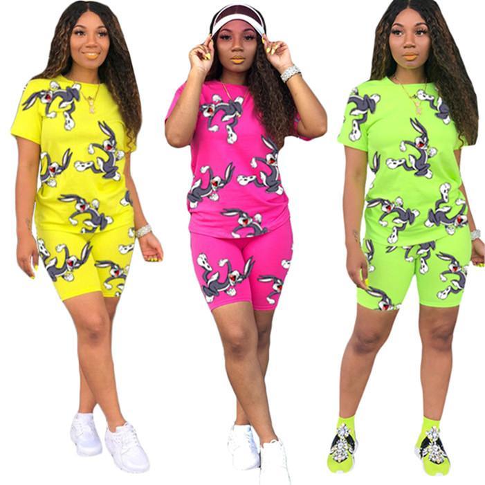 all'ingrosso progettista insieme a due pezzi abiti Tute manica corta brevi Jogging Sport T-shirt Tute Abbigliamento sportivo Donne clothing3782