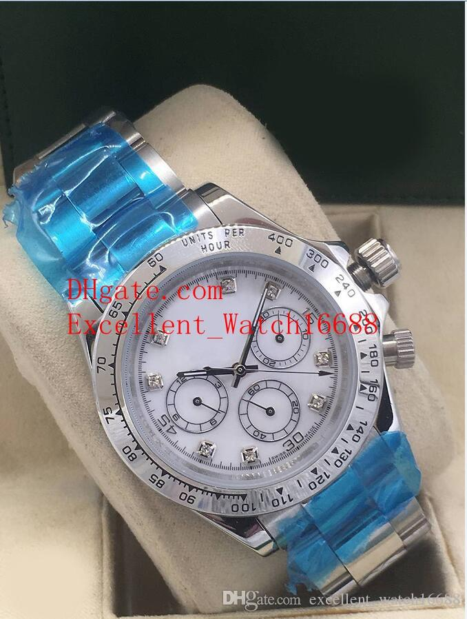 10 colour Hot Sell watches 40 mm 116503 116506 116508 116523 116520 Stainless Steel Asia 2813 Movement Automatic Men's Wristwatches Christ