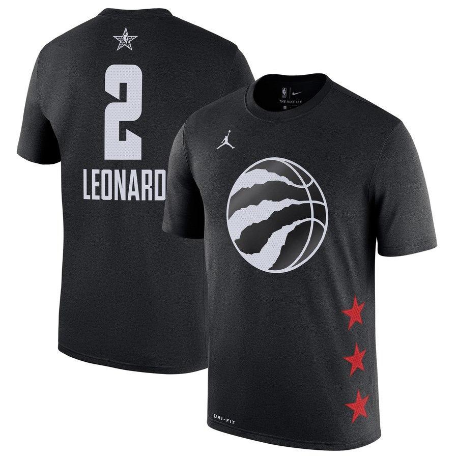 Kawhi Leonard TorontorapacesLos hombres 2019 Juego de las Estrellas Nombre Número de baloncesto camiseta Negro