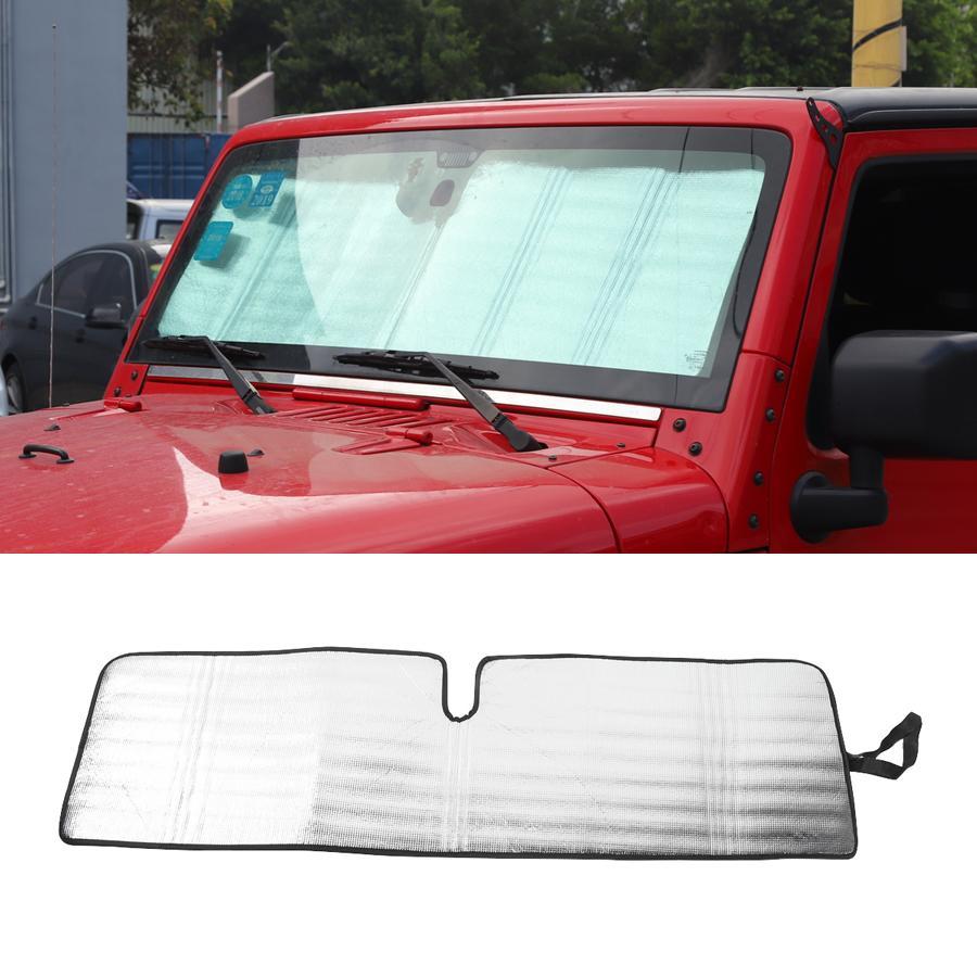 الجملة الزجاج الظل غطاء ل جيب رانجلر jk مكافحة الأشعة فوق البنفسجية نافذة الشمس درع قناع الداخلية اكسسوارات 1 قطع