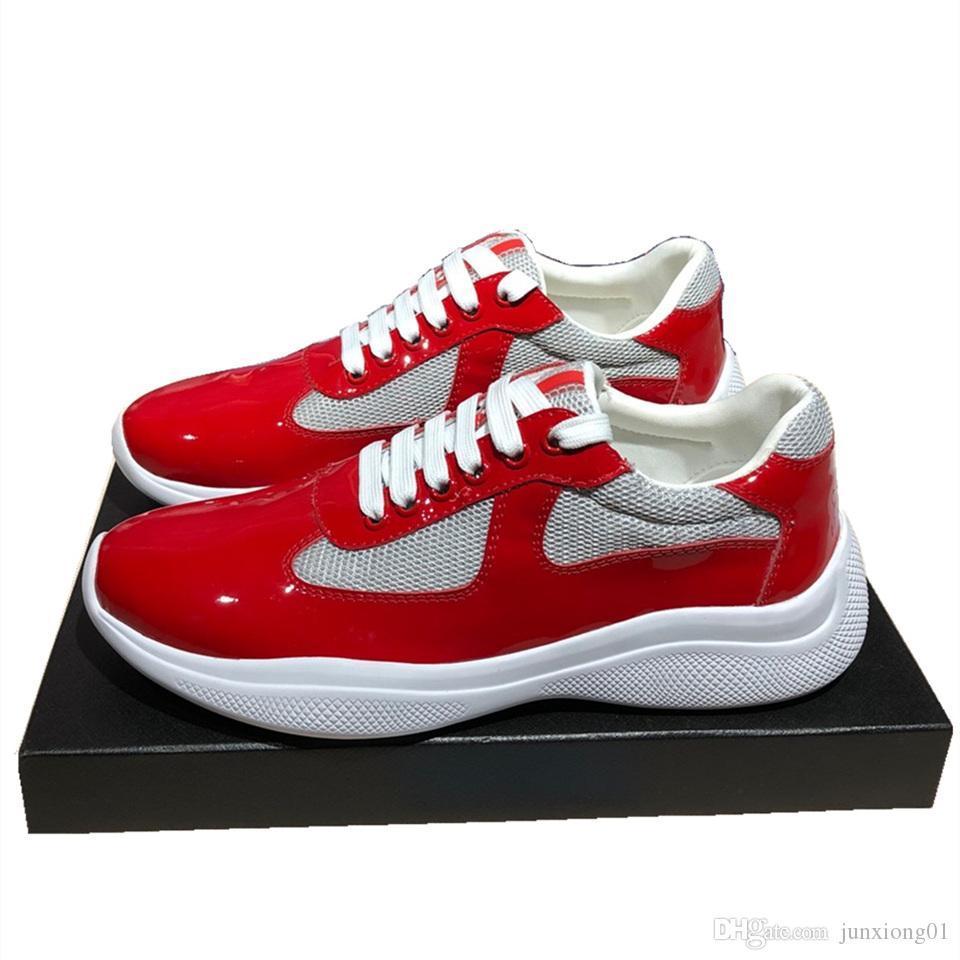 America's Cup кроссовки лакированная кожа и нейлон роскошные кроссовки мужская обувь hococal мужская мода Повседневная обувь