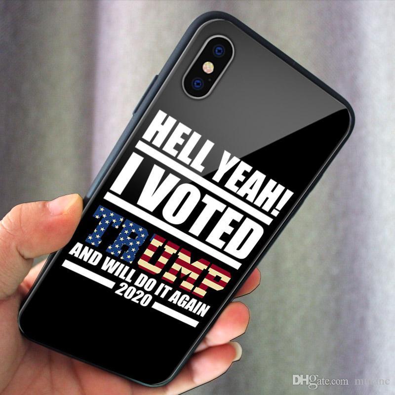 2020 الرئيس أصوات دونالد ترامب حالة الهاتف الهاتف TPU حالة زجاج لفون XS ماكس XR 6 7 8 XS بالإضافة إلى 11pro سامسونج S10