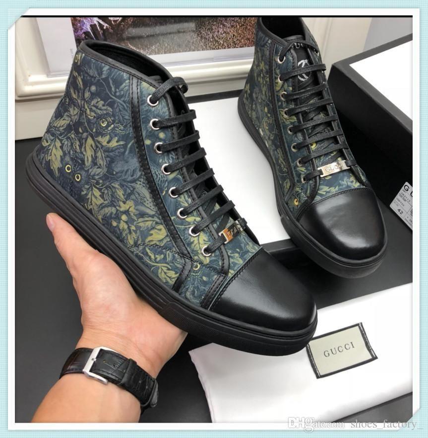 Alta dos homens da qualidade sapatos de marca Moda Casual Luxury Sneakers Footwears com Original Box Flats Time Out sapatilha Men Shoes Tamanho 38-44