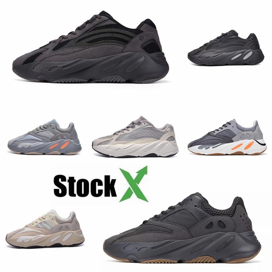 Yeni 700 V3 Kanye West Erkekler Lüks Günlük Ayakkabılar Azael Alvah Beyaz İskelet Siyah Glow In Dark Kadınlar Spor Sneakers # DSK199