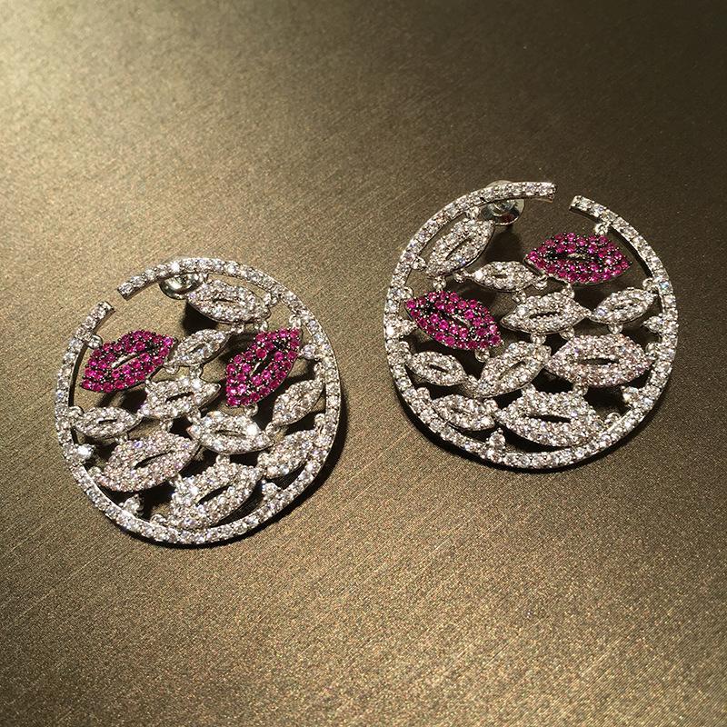 Monili delle donne orecchini di goccia Queen Lotus di alta qualità zircone da sposa per l'orecchino di moda per il partito