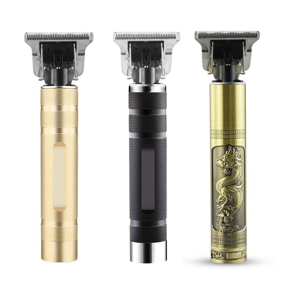 USB aufladbare neue elektrische Haar-Scherer-Retro- geschnitzte Öl Kopf Schere Haushalt-elektrische Fader 5W Haarschneidemaschine