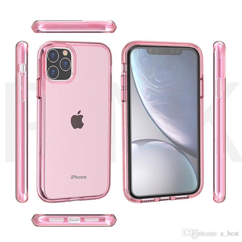 iPhone para o caso de alta Limpar Telefone 11 Pro Max XS XR X 8 Capa TPU 7 6 6S Além disso nível militar anti-choque Transparente