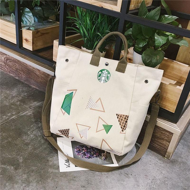 Diseñador-Starbucks Compras Hombro Bolsa de Mamá Bolsa de Lona Ocio Messenger Hombro Envío Bolsas Mensajero Gran Bagde Vgntbk