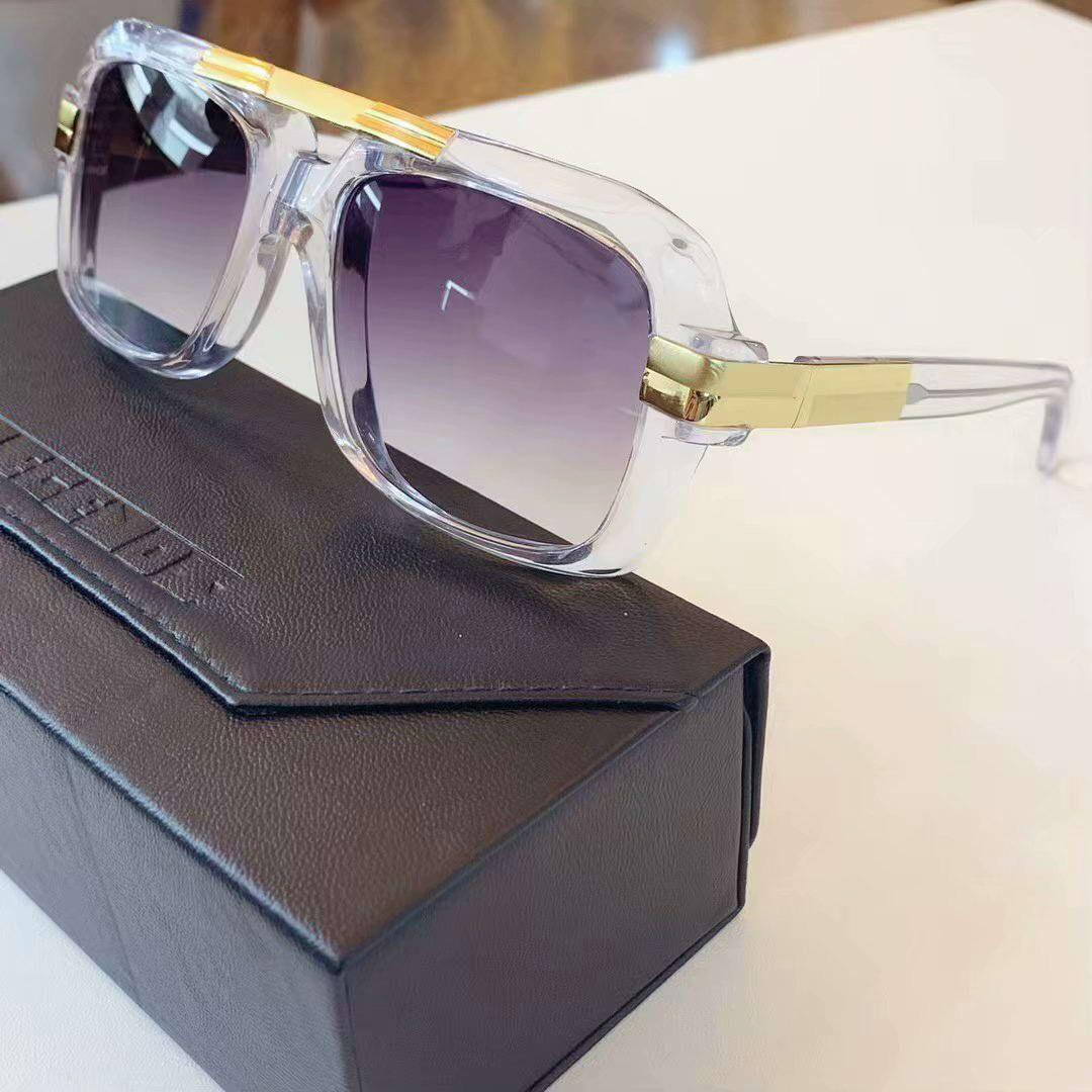 Hommes 663 Cristal / Retro Gold Pilot Lunettes de soleil Legends lunettes occhiali da sole Lunettes de soleil de luxe Lunettes New wth Box