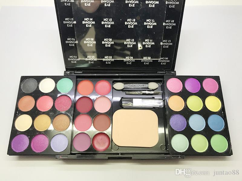 39 cores composição paletas 24 da paleta da sombra 8 Gloss 4 cora 3 pressionado Pó multifuncional Sombra