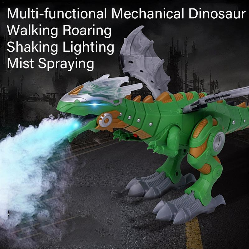 Electric Dinosaurs Model Toys Walking Spray Robot With Light Sound Swing Simulation Dinosaur Toy For Boy Gift Q190522