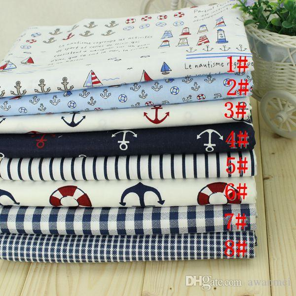 New fabric, marine style, DIY handmade, can make curtains, tablecloths, pillows, bedding, etc.