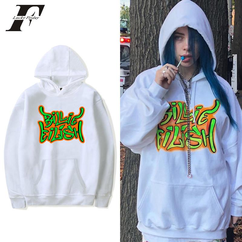 Billie Eilish Mode surdimensionné Sweat-shirts Casual Hommes Femmes pull avec capuche Sport Hip Hop billie Eilish sweat à capuche Vêtements V191105