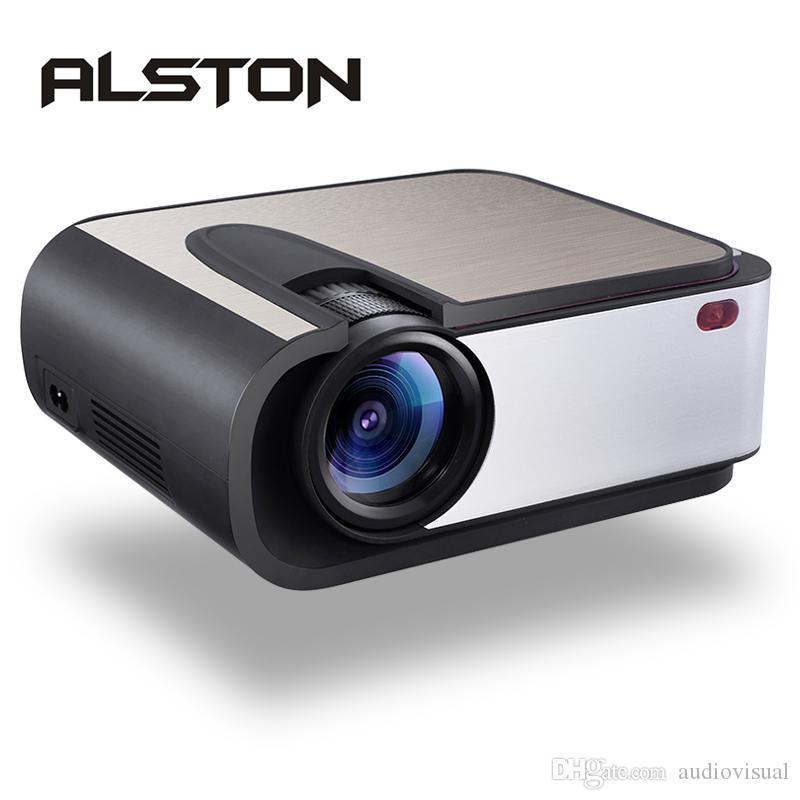 Alston H89 Full HD Светодиодный проектор 2200 Lumens LED видеопроектор Главная Кинотеатр WiFi Miracast / Airplay Proyector USB AV Совместим с HDMI VGA