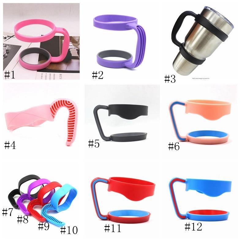 30oz 20oz Coupes Poignées Porte-portable à la main en plastique vide Tasse de tasse de café tasses poignée en acier inoxydable Tumbler Drinkware Poignée GGA3104-2
