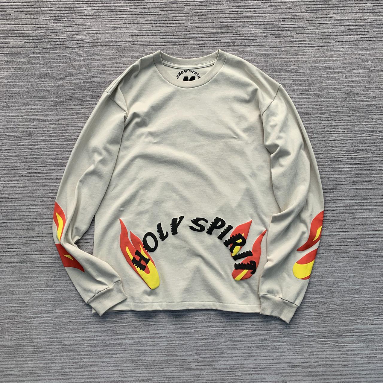 Kanye West Concert limitada Foam impressão de coco Style Plus pulôver em torno do pescoço camisola camisola afligido Style Plus HOODIE188a #