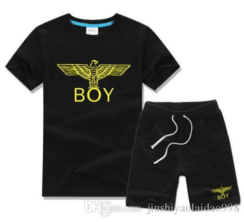Bébés garçons et les filles Designer T-shirts et shorts Costume Marque Survêtements 2 Vêtements enfants Set Vente chaude Mode d'été pour enfants +86