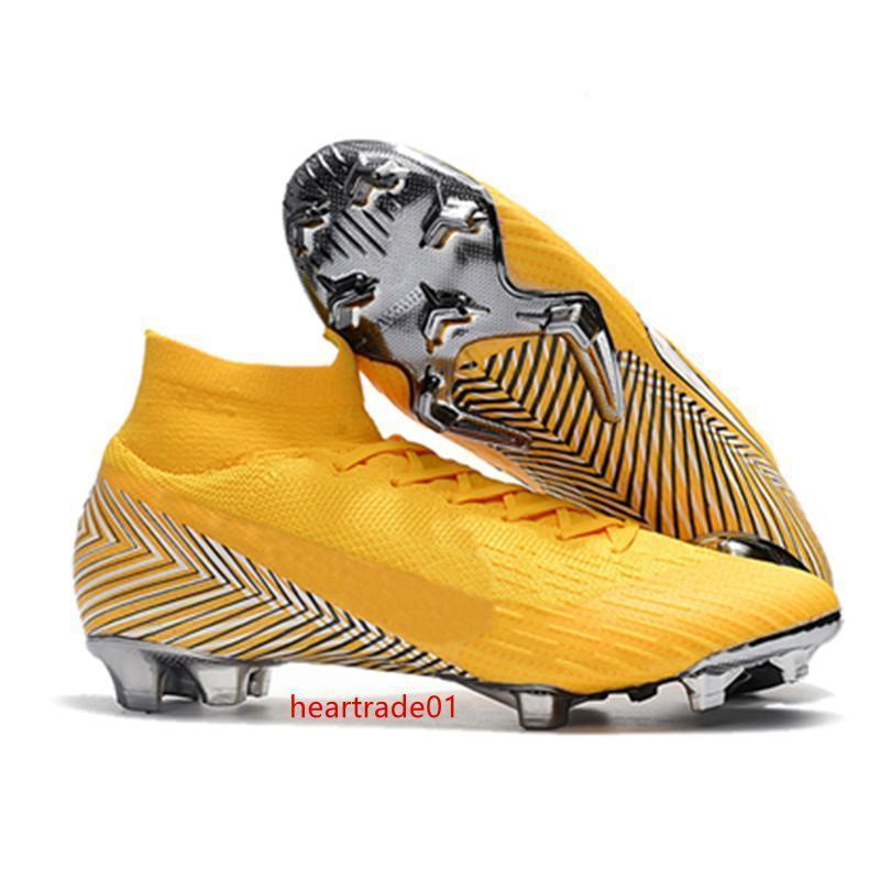 رونالدو المرابط الرجال لكرة القدم الأصل زئبقي ال superfly VI 360 النخبة نيمار FG الصلب المسامير كرة القدم أحذية عالية الكاحل أحذية كرة القدم