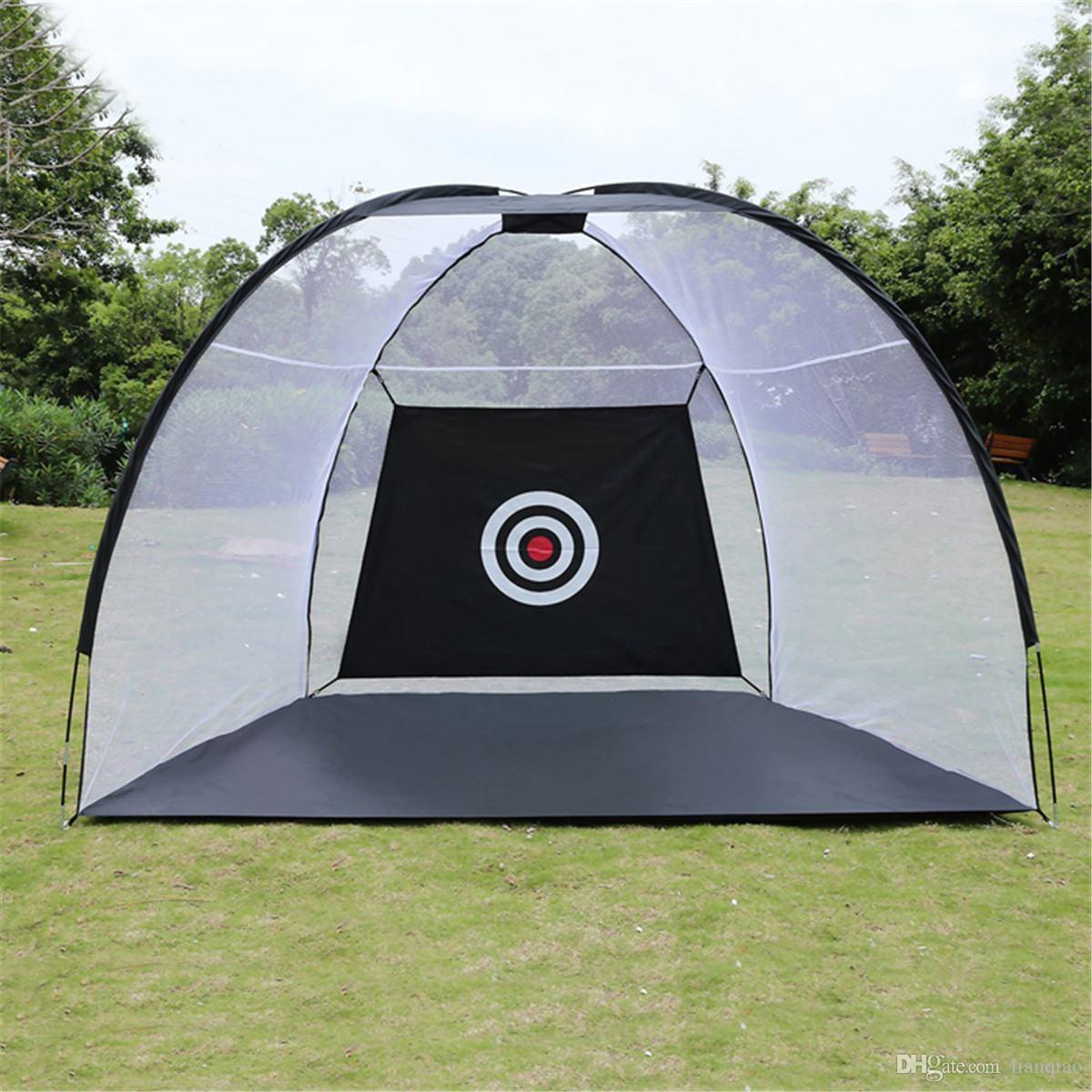 2020 نمط جديد من التدريب على الغولف الأسود أديس قابل للطي ضرب حديقة قفص حديقة عشبية تدريب الجولف
