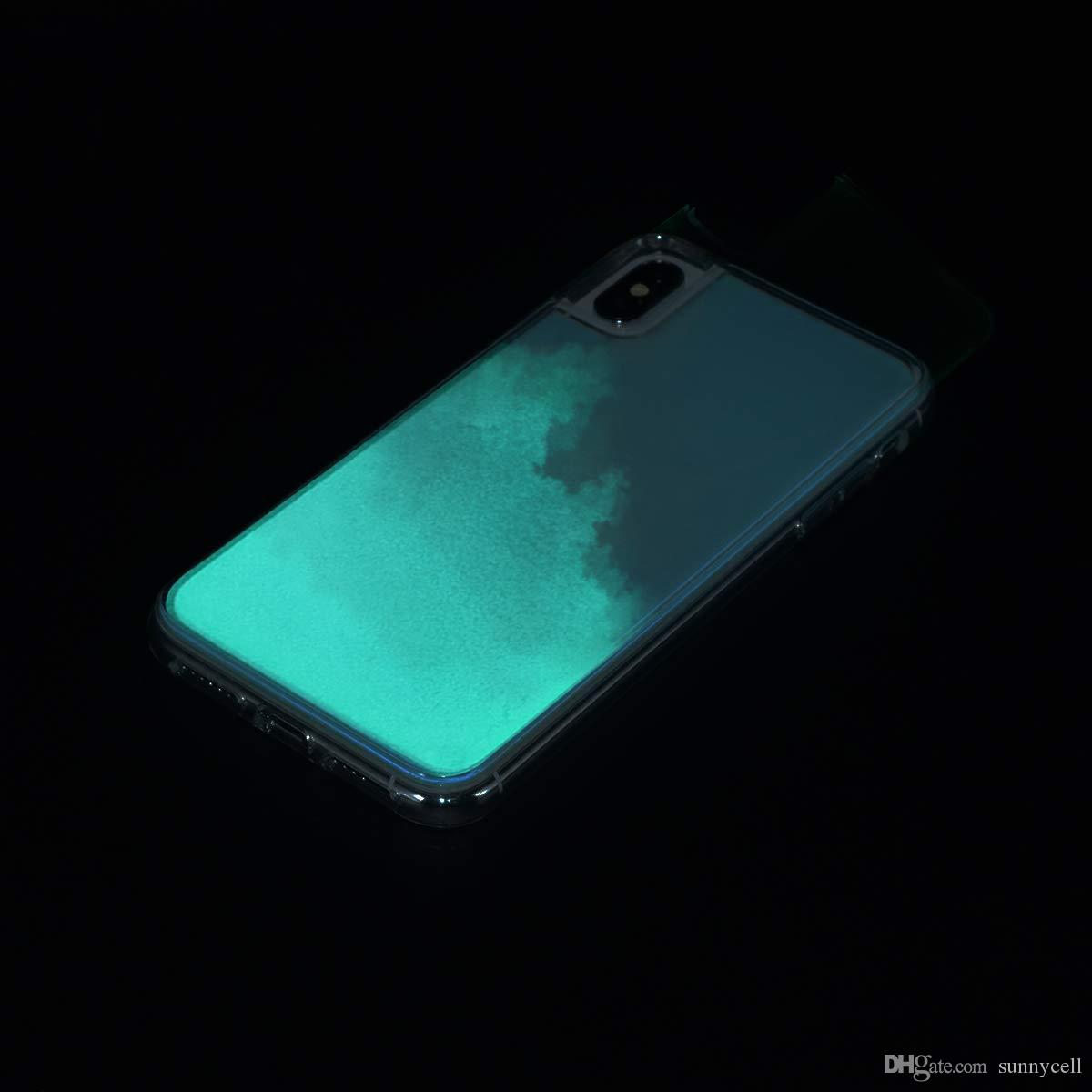Para Samsung Nota 10 Pro M20 M10 Z4 Z3 Z2 S10 E S9 S8 Além disso Note9 8 fluindo Neon Areia líquido de corpo inteiro com Levantado moldura brilho da tampa do caso