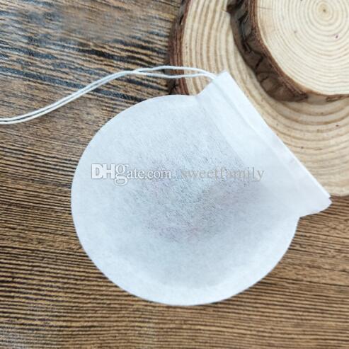 10000pcs / lot las bolsas de té creativas de la forma redonda, bolsas de papel disponibles del filtro de la categoría alimenticia bolsos del café, completan 1-4g MINI